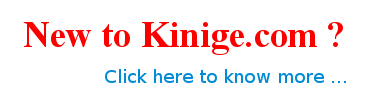 New to Kinige?